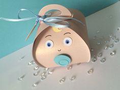 Baby boy gift box using curvy keepsake die from stampin up