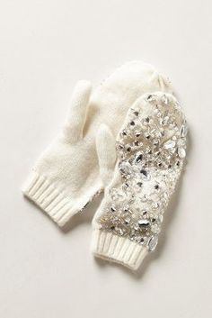 Gem-Frosted Mittens