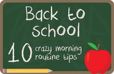 The Hankful House: Back To School Tips for your morning routine