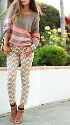 a little bit cool, a little bit casual. #chevron #stripes