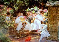 #art #garden #paint #women #beautiful #arte #quadro #relax