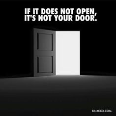 Not your door