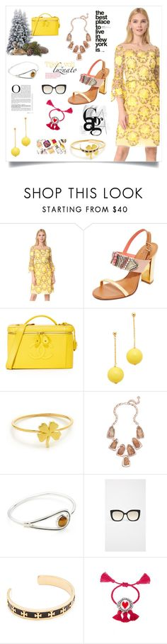 """Cocktail Dress..**"" by yagna on Polyvore featuring Notte by Marchesa, Tory Burch, Kenneth Jay Lane, Jennifer Meyer Jewelry, Kendra Scott, Pamela Love, Barton Perreira and Shourouk"