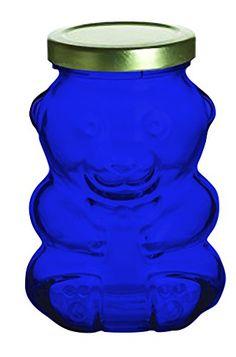 Cobalt Blue Nakpunar Bear Glass Jar, 9 oz. -set of 1- Additional Vibrant Colors Available by TableTop TableTop King http://www.amazon.com/dp/B00XPTZO0O/ref=cm_sw_r_pi_dp_imuTwb0K3RN78