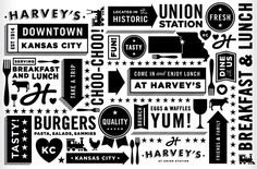An elegant update to Harvey's restaurant branding by Tad Carpenter Restaurant Branding, White Restaurant, Cafe Branding, Food Branding, Office Branding, Branding Ideas, Packaging Ideas, Kansas City Union Station, Harvey House