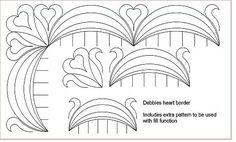 border quilting designs   ... Digital Quilting Patterns :: Border & Sashings :: Debbies heart Border