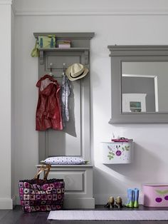 Tiny mudroom…the laundry room can double as a mudroom!