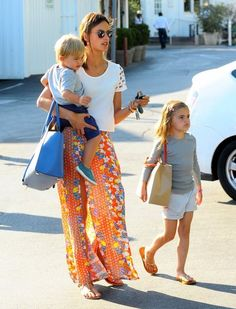 Alessandra Ambrosio - Alessandra Ambrosio Out with Her Kids