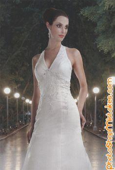 A Line V Neck Sleeveless Natural Waist Beading Embroidery Floor Length Satin Wedding Dress Wedding Dress Train, Fit And Flare Wedding Dress, One Shoulder Wedding Dress, Wedding Gowns, Davinci Wedding Dresses, Wedding Dress Styles, Bridesmaid Dresses Online, Bridal Dresses, A Line Gown