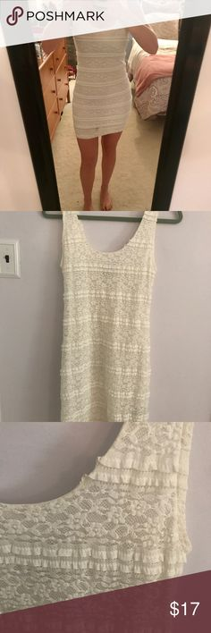 c55c36ab62 Forever 21 white lace bodycon dress White lace dress. Size M. Fast shipping!