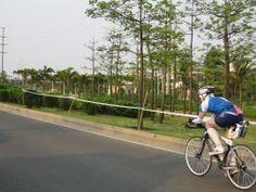 On the 180km bike course at Ironman China 2010