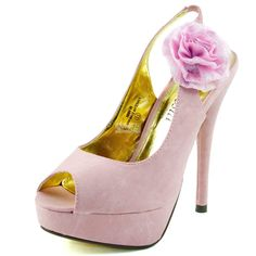 Abby-13 Pink Soft Faux Leather Peep Slingback Pumps. $25.69 Click image to see other styles and color. Bridal Wedding, Fun Shoes, High Heel, Peep Toes, Platform, Mary Jane Styles