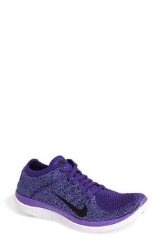 Nike 'Free Flyknit 4.0' Running Shoe (Women) available at #Nordstrom Avery black