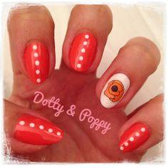 My dotty n poppy nail art!