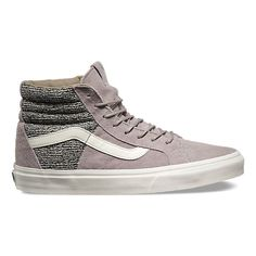 The Italian Weave Sk8-Hi 46 combines the legendary Vans lace-up high top with premium pig suede and textile uppers, re-enforced toecaps to withstand repeated wear, padded collars for support and flexibility, and signature rubber waffle outsoles.