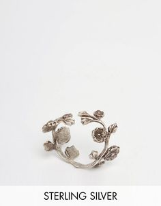 Regal+Rose+WILD+EVE+Sterling+Silver+Plated+Rose+Wrap+Ring