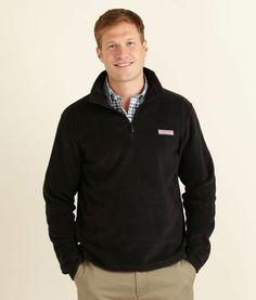 Men's Fleece Jackets: Fleece 1/4-Zip for Men - Vineyard Vines. Color: Black. Size: XL
