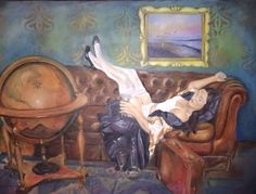 """""""Chesterfield journey"""" oilpainting, 100x70 cm"""