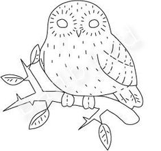 owl embrodery transfer patterns | embroidery pattern...whoooo