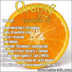 Add orange essential oil to your homemade green cleaning products for a long-lasting pleasant odor.