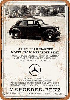 Mercedes Auto, Old Mercedes, Mercedes Benz Models, Classic Mercedes, Mercedes Benz Logo, Mercedes Benz Cars, Vintage Advertisements, Vintage Ads, Vintage Posters