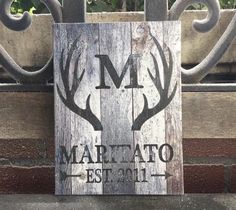 Personalized Family Canvas Sign, Rustic country Barn Wood Background, Monogramed Family Decor, Deer, Hunter, Custom Gift Wedding Anniversary by DavaahsLOVE on Etsy https://www.etsy.com/listing/478920447/personalized-family-canvas-sign-rustic