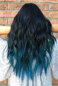 blue ombre hair color trend in trendy hairstyles and colors blue omb… blue ombre hair color trend in Cute Hair Colors, Hair Dye Colors, Ombre Hair Color, Cool Hair Color, Blue Hair Balayage, Turquoise Hair Ombre, Blue Hair Highlights, Blue Streak In Hair, Black Blue Ombre Hair