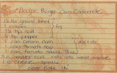 Burger Corn Casserole