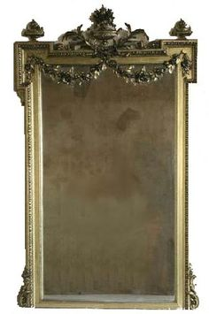 French Painted Mantle Mirror