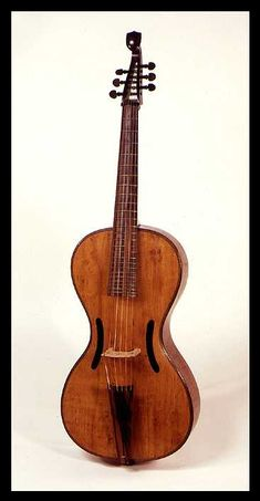 surviving 19th century Arpeggione bowed guitar, attributed to Anton Mitteis, Leitmeritz, 1st quarter of the 1800's.