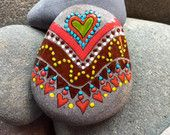 Love Tribe / Navajo / tribal love / painted rock / Sandi Pike Foundas / love from Cape Cod/ sea stone / southwest