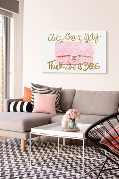 """""""Exclusive Like A Lady Boss"""" Canvas Art by Oliver Gal on @HauteLook/ Nordstrom Rack"""