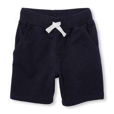 Toddler Boys Uniform Solid Knit Shorts