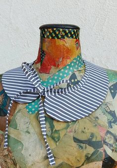 Stylish refreshment for the Blouse or Top with Double-Faced Collars from Mathura Design. Tailor made from Cotton and Linen fabrics