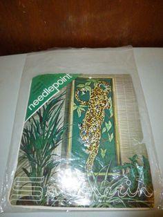 Vintage Jungle Leopard Needlepoint Canvas by Spinnerin by BathoryZ, $49.00