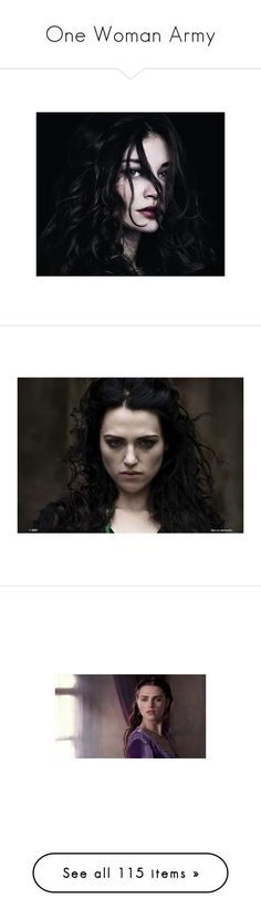 """One Woman Army"" by serpent-disasterology ❤ liked on Polyvore featuring people, women, pictures, girls, models, merlin, katie mcgrath, adelaide kane, mary and photo"