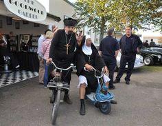 Priest and nun en route