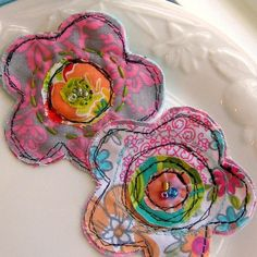 Flower Pins, Fabric Flowers
