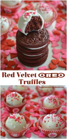 Red Velvet Oreo Truffles are a fun twist on the favorite Oreo truffle for Valentine's Day