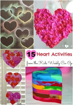 15 Heart Activities to Love from the Kids Weekly Co-Op - great heart activities for kids for Valentine's Day.