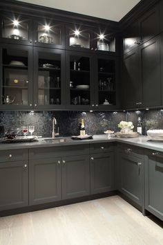 Butler's Pantry Cabinets - Contemporary - kitchen - Kelly Deck Design