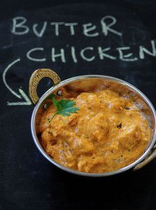 Butter chicken recipe ~ Punjabi butter chicken masala is a mild curry in an onion tomato cream based base & boneless tender chicken pieces, step by step. Chicken Masala Recipe Indian, Indian Butter Chicken, Pollo Masala, Indian Food Recipes, Asian Recipes, Kerala Recipes, Good Food, Yummy Food, Indian Dishes