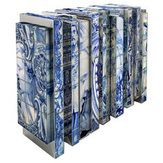 """HERITAGE   Sideboard A Tribute To The Hand-Painted Portuguese Tiles  Portugal  2012    Inside this sideboard you will find a golden interior that will make you remember historical buildings, which normally presented interiors with a lot of ornaments and gold.     DIMENSIONS  w:162 cm 62.9""""  d:50 cm 16.7""""  h:90 cm 35.4""""    Allow 10-12 weeks for delivery.  30"""
