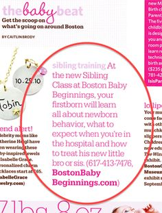 """Boston Baby Beginnings - First of Its Kind """"Sibling Class"""" Launches as part of Childbirth Education"""