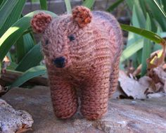 PDF Bear Knitting Pattern Waldorf Toy by mamma4earth on Etsy, $5.00