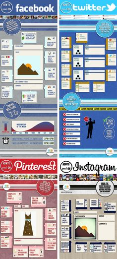 How to Post on Facebook, Twitter, Instagram and Pinterest %u2013 infographic