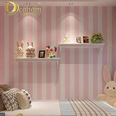Style: For Kids Charge Unit: Yuan/Roll Feature: Formaldehyde-free,Mildew Resistant,Extra Thick,Environment Friendly Brand Name: jiadou Surface Treatment – BuzzTMZ Wall Painting Living Room, Bedroom Wall, Bedroom Decor, Cute Room Decor, Baby Room Decor, Baby Room Art, Little Girl Bedrooms, Kids Bedroom Designs, Pink Room