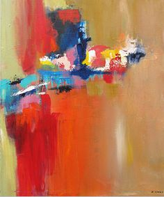 Exuberant-#2 by Marilyn Woods Acrylic 24 x 20
