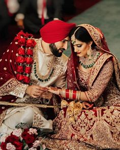 All these colours will be a great choice for a Sikh bride. So let us take a look at all these amazingly designed Bridal Lehnga Colours. Sikh Wedding Dress, Desi Wedding, Wedding Lenghas, Farm Wedding, Boho Wedding, Wedding Reception, Wedding Groom, Bride Groom, Sherwani Groom