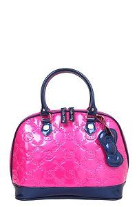Loungefly - Hello Kitty Fuchsia Color Block Embossed Dome Bag